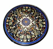 36 Marble Dining Table Top Inlay Rare Semi Round Center Coffee Table Ar1148