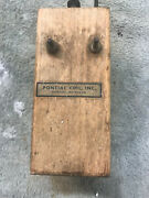 Pontiac Coil Co Dovetailed Wooden Box Buzz Ignition
