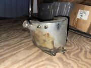 Old Chrome Oil Tank W/ Battery Tray For Harley Davidson Chopper Panhead Knuckle