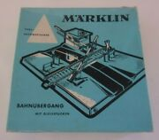 Marklin Railway Crossing 7192 Used Incomplete Made In West Germany