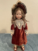 Antique K And R 101 Marie Doll With Intaglio Eyes And Closed Mouth