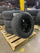 17x8 Black Moto Metal Mo970 Wheels 32 265/70r17 At Tires 6x135 Ford Expedition