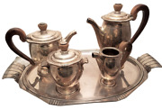 4-piece French Silver Tea / Coffee Set French In Art Deco Style