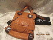 B. Makowsky Lindsey Foil Suede Tote Bag W/pkt Details New With Tags
