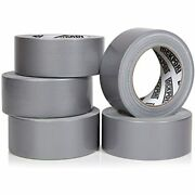 Heavy Duty Silver Duct Tape - 5 Roll Multi Pack Industrial Lot 30 Yards X 2 Inch
