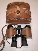 Vintage Bausch And Lomb Us Army Signal Corps Binoculars 6 Power 30mm Apert.