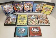 Big Lot Of 7 The Sims 1, 2, 3 Pc Games + 5 Expansion Packs And Bonus Dvd