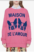 Maison De Landrsquoamour Bosco And Orso Crystal Pink Sweater Pull-over Size Small