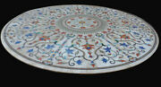 36 Marble Dining Table Top Inlay Rare Semi Round Center Coffee Table Ar1160