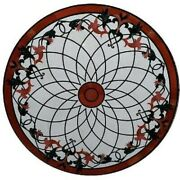 36 Marble Dining Table Top Inlay Rare Semi Round Center Coffee Table Ar1163
