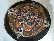 36 Marble Dining Table Top Inlay Rare Semi Round Center Coffee Table Ar1169