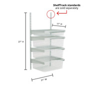 Closetmaid Shelf Rack With 4-drawer Kit Steel Closet System In White Finish New