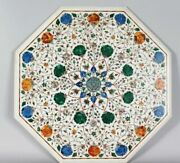 36 Marble Dining Table Top Inlay Rare Semi Antique Center Coffee Table Ar1196