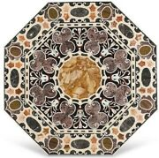 36 Marble Dining Table Top Inlay Rare Semi Antique Center Coffee Table Ar1214