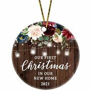 Juppe Our First Christmas In New Home 2021 Ornament Mr Andamp Mrs Newlywed Couples