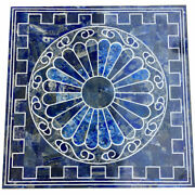 36 Marble Dining Table Top Inlay Rare Semi Antique Center Coffee Table Ar1219