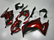 Injection Pearl Red Fairing Bodywork Kit Fit For Ninja300 Ex300 2013-2017 Aau