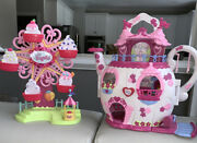 Hasbro 2006 My Little Pony Tea Pot House And Ponyville Carousel Lights And Music