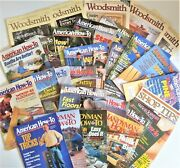 Mixed Lot Of 32 American How To Magazine Handyman Club Of America Woodsmith