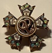 1912 Sigma Nu Fraternity Pin Opals Gold