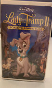 Walt Disney Lady And The Tramp 2 Scamp's Adventure Vhs Clamshell Case Sealed