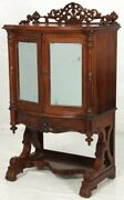 Music Stand Parlor Cabinet Rococo Victorian C1860 Rswd T Maple Nyc 42t