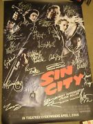 Ultimate Sin City 2005 Signed Autograph Auto Movie Poster Whopping 22 Sigs Coa