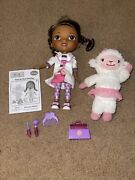 Disney Doc Mcstuffins Time For Your Checkup Interactive Talking + Lambie New