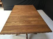 8ft English Oak Regency Style Dining Table To Be Professionally French Polished