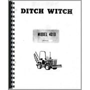 Ditch Witch 4010 Trencher Owners Operators Manual Parts Catalog