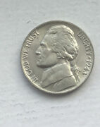 1943 P Jefferson Wartime Nickel Bu Full Step Uncirculated Mint State 35 Silver