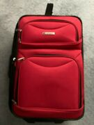 Leisure Luggage Red Expandable Carry-on Bag On Wheels