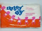 Vintage Thrifty Dry White Prefolded Cloth Diapers Birdseye Kendall Company Usa