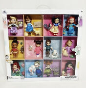 Disney Store Animators Collection Mini Doll Gift Set 14 Dolls With Pets New