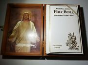 Holy Bible Kjv Memorial Protestant Edition New 1974 With Wooden Box, Illustrated