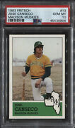 1983 Fritsch Jose Canseco Madison Muskies Xrc 13 Psa 10 Gem Mint Rare Find