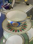 Exclusive Russian Imperial Lomonosov Porcelain Tea Cup And Saucer Gothic Gold Lfz