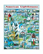 White Mountain Puzzles American Lighthouses - 1000 Piece Jigsaw Puzzle