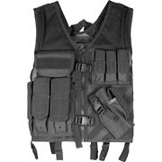 Fox Outdoor Molle Military Vest Cross Draw Tactical Vests Swat Hunting L To Xl