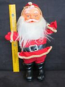 Antique Celluloid Face And Boots W/ Wire Arms Santa Claus 12