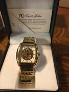 New Mens Watch Auguste Galan Collectible Limited Edition Watch Gold Square Face