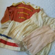 Vintage Early Handmade Girls Youth 3 Piece Majorettes Uniform Costume Bloomers 5
