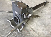 Rare Vintage Mall Two Man Gas Engine Chainsaw With Bar
