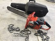 Vintage Homelite Super Ez Automatic Chainsaw With Case Extra Chains