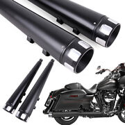 4 Motorcycle Megaphone Slip-on Mufflers Exhaust Pipes For Harley Touring 95-16