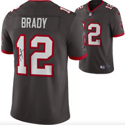 Tom Brady Tampa Bay Buccaneers Signed Pewter Nike Limited Jersey