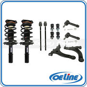 2x Front Strut Coil Spring W/ Control Arm Kit For 00-11 Chevrolet Impala