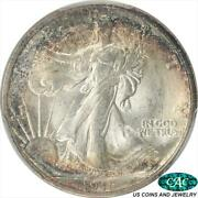 1916-d Walking Liberty Half Dollar Pcgs And Cac Ms65 Low Mintage Key Date