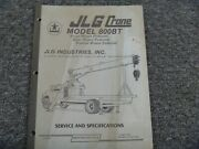 Jlg 800bt Mounted Boom Truck Crane Specifications And Shop Service Repair Manual