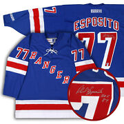 Phil Esposito Autographed New York Rangers Blue Jersey Psa/dna